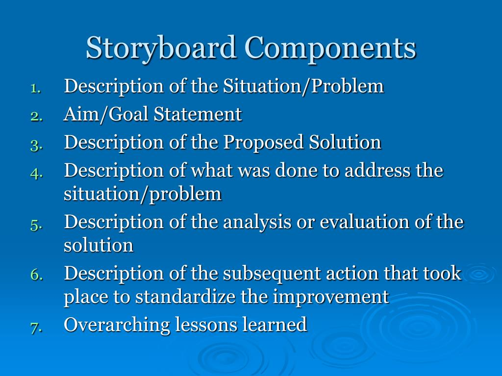 Storyboard Components