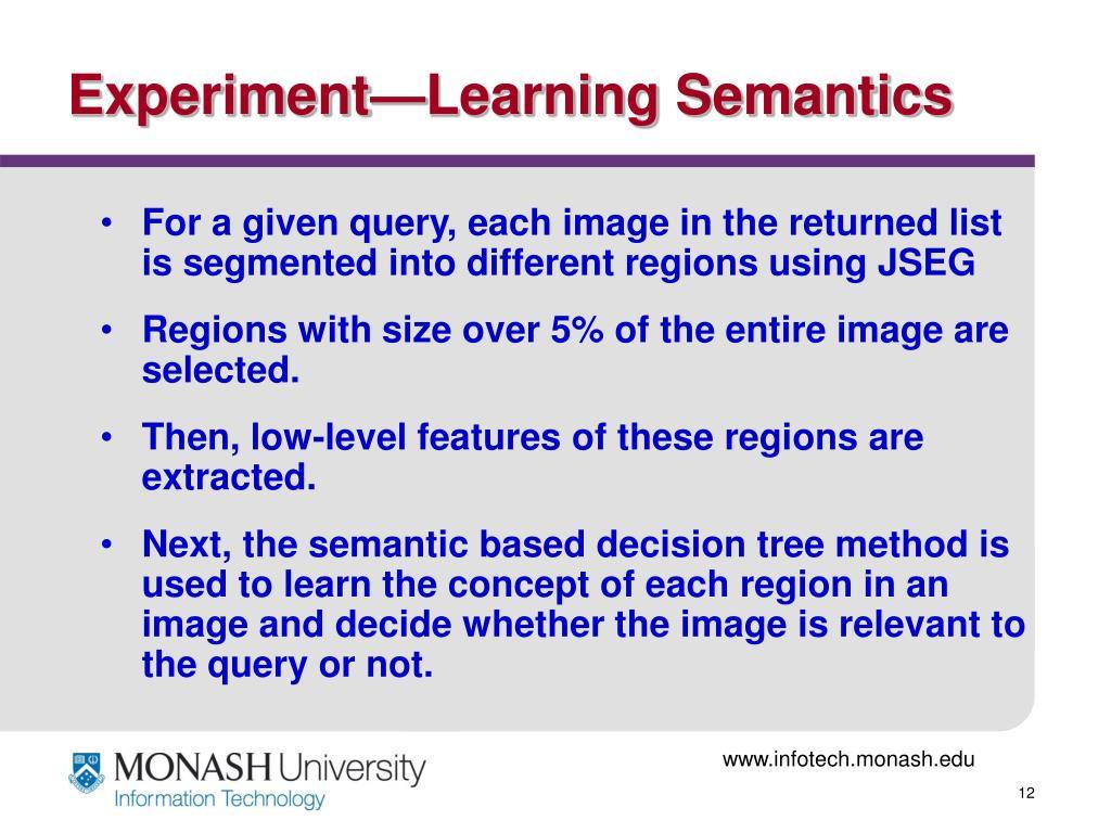 Experiment—Learning Semantics