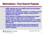 motivations text search popular