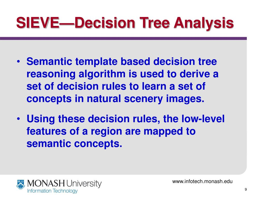 SIEVE—Decision Tree Analysis