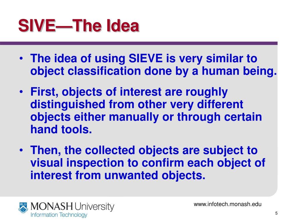 SIVE—The Idea