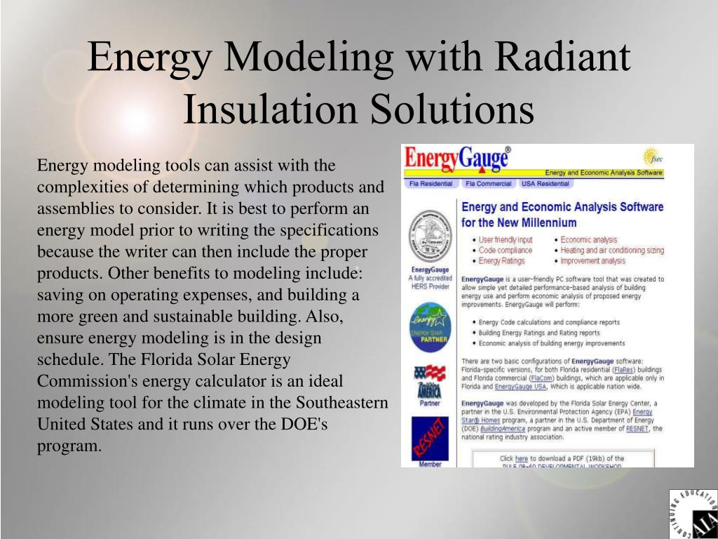 Energy Modeling with Radiant Insulation Solutions