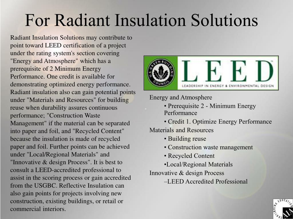 For Radiant Insulation Solutions