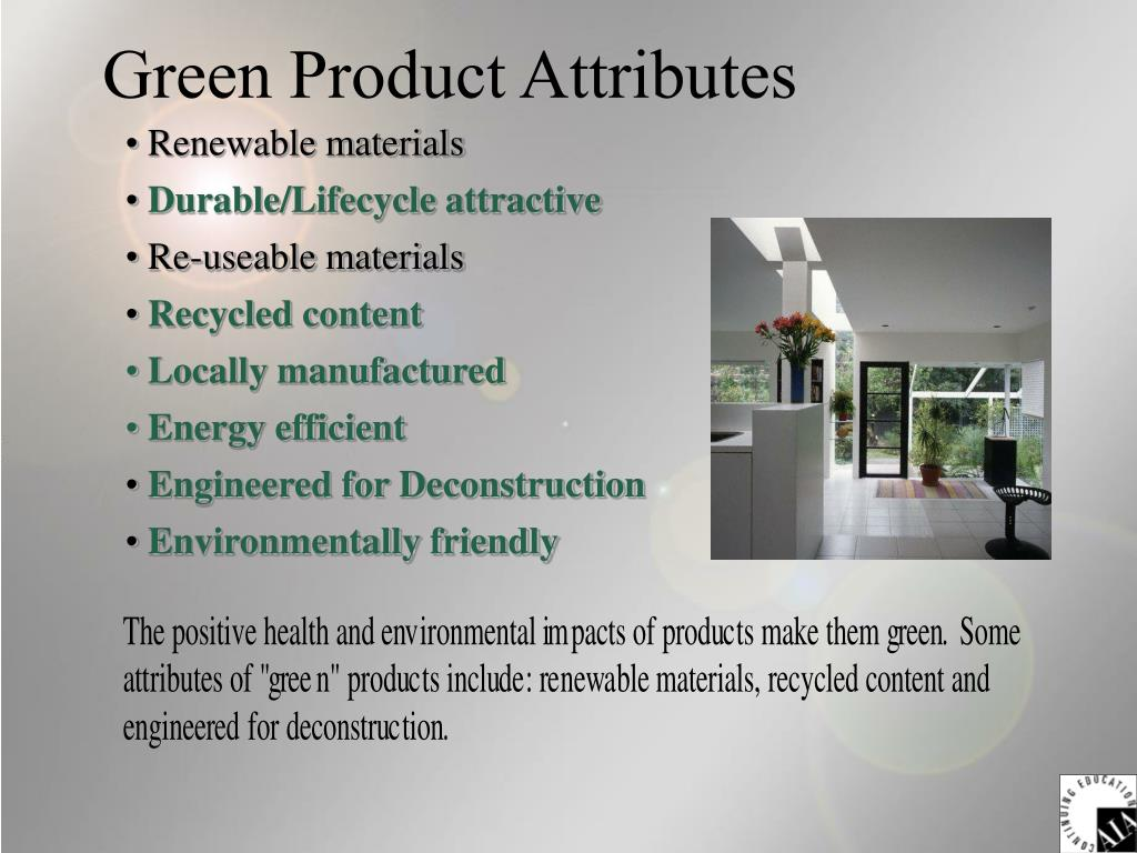 Green Product Attributes