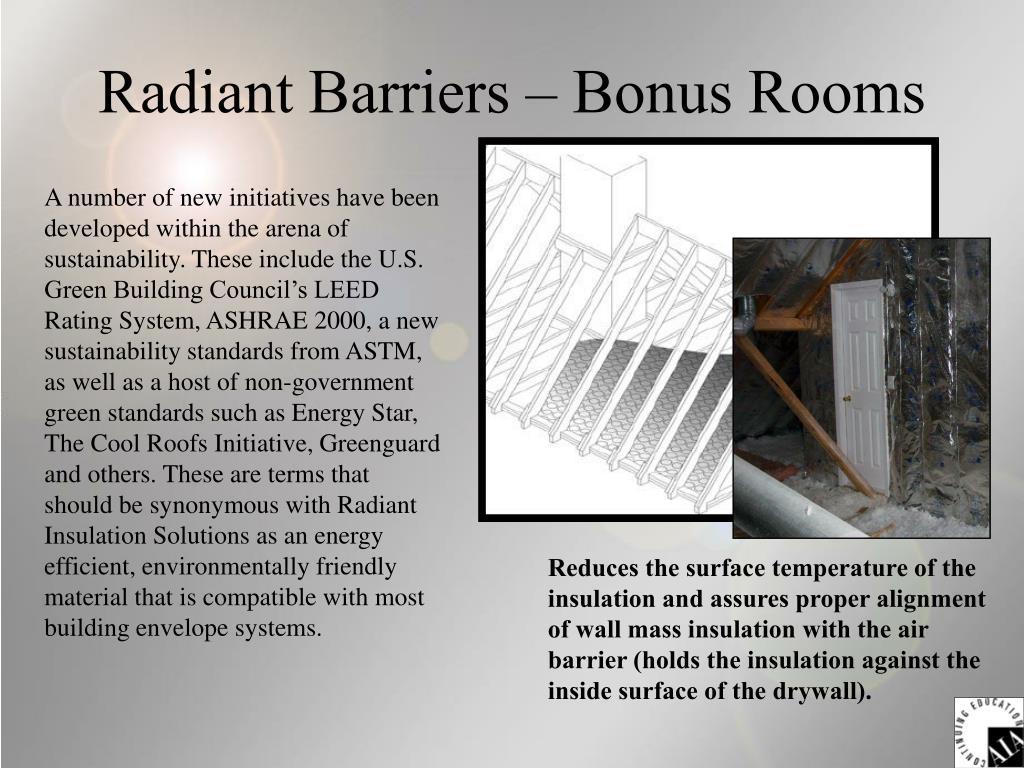 Radiant Barriers – Bonus Rooms