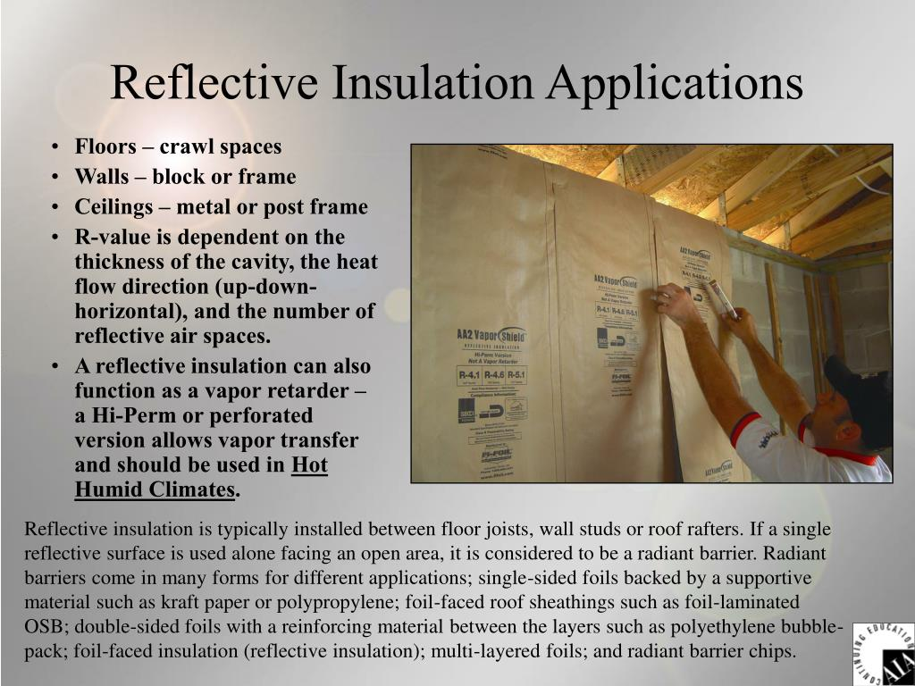 Reflective Insulation Applications