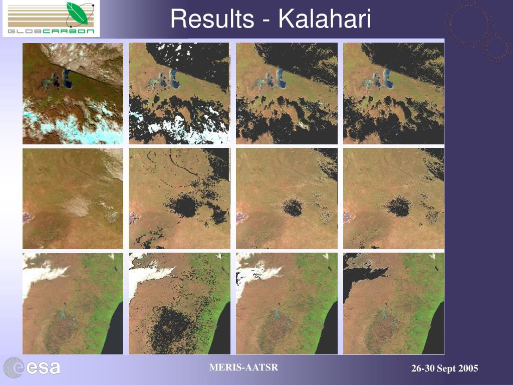 Results - Kalahari