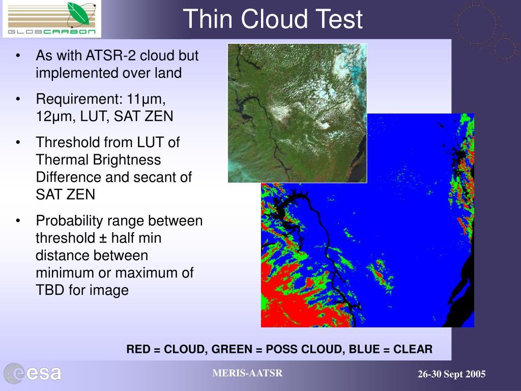 Thin Cloud Test