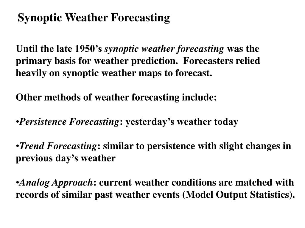 Synoptic Weather Forecasting