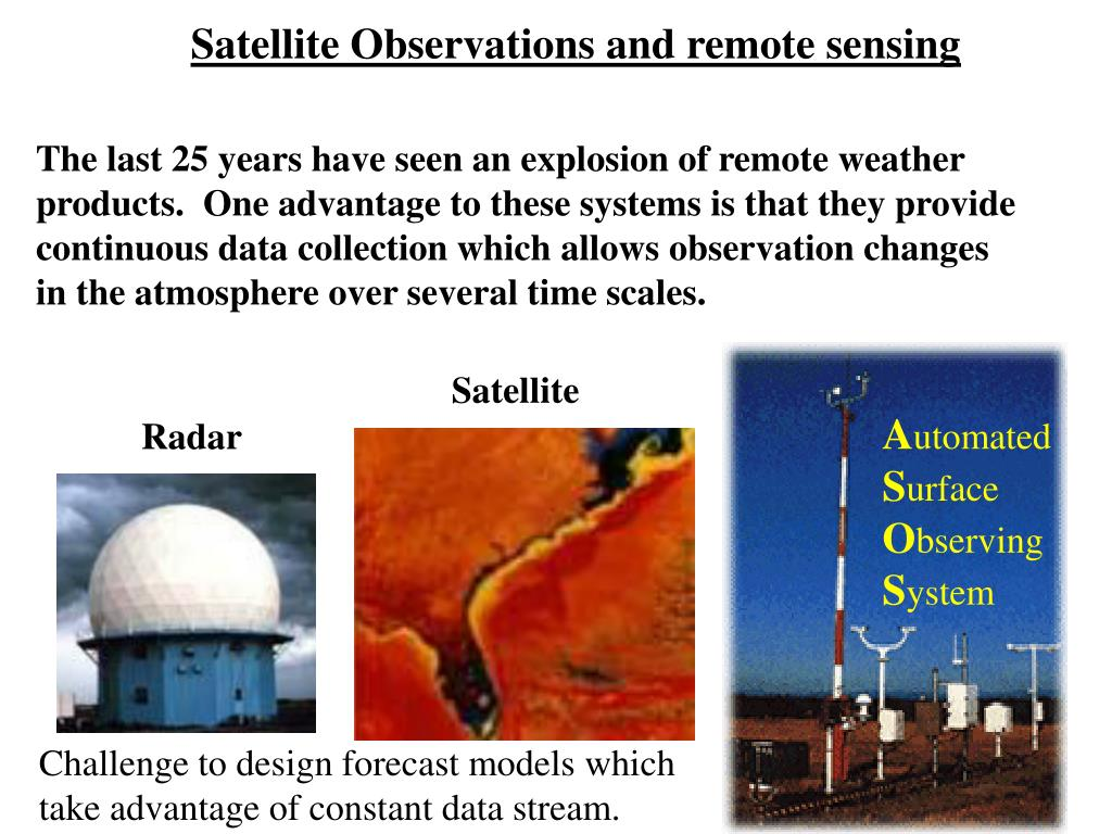 Satellite Observations and remote sensing