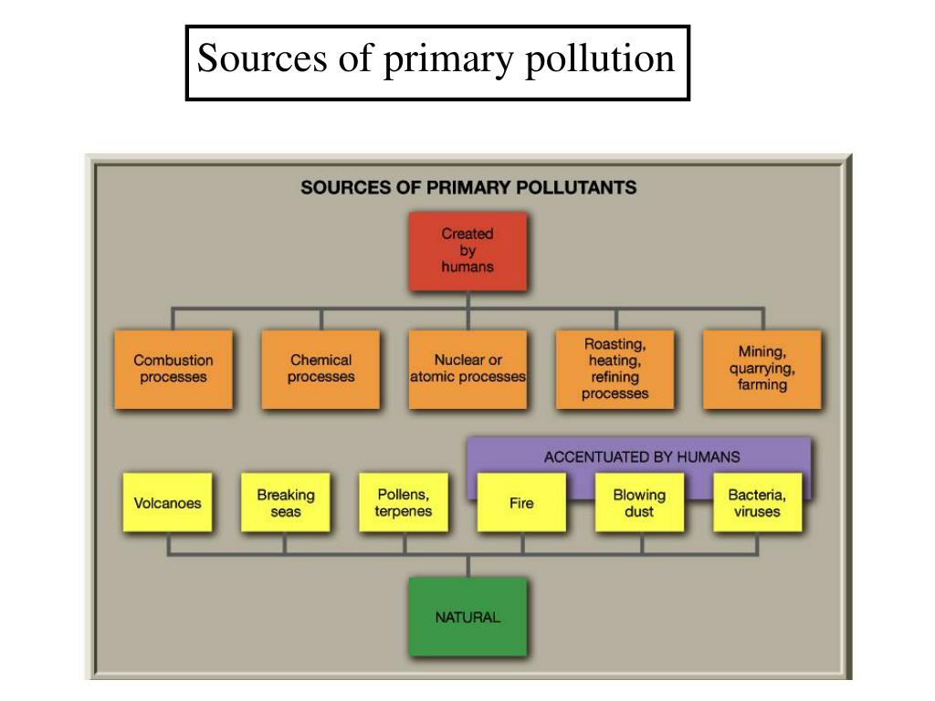 Sources of primary pollution