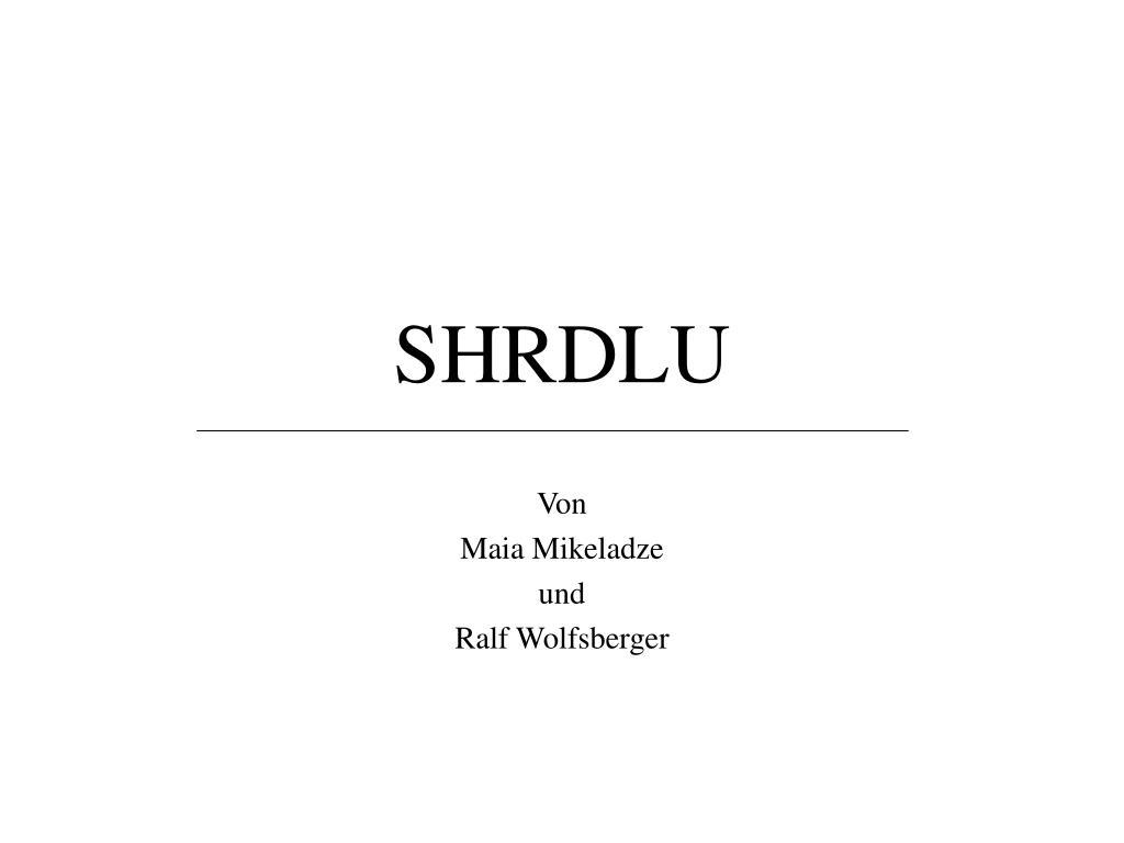 SHRDLU