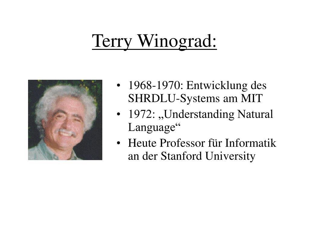 Terry Winograd: