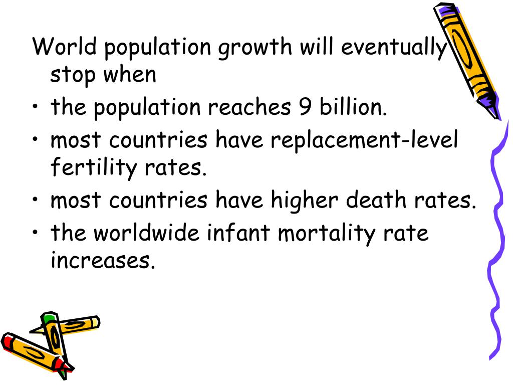 World population growth will eventually stop when