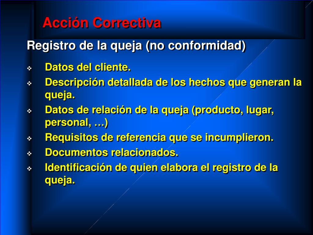 Acción Correctiva