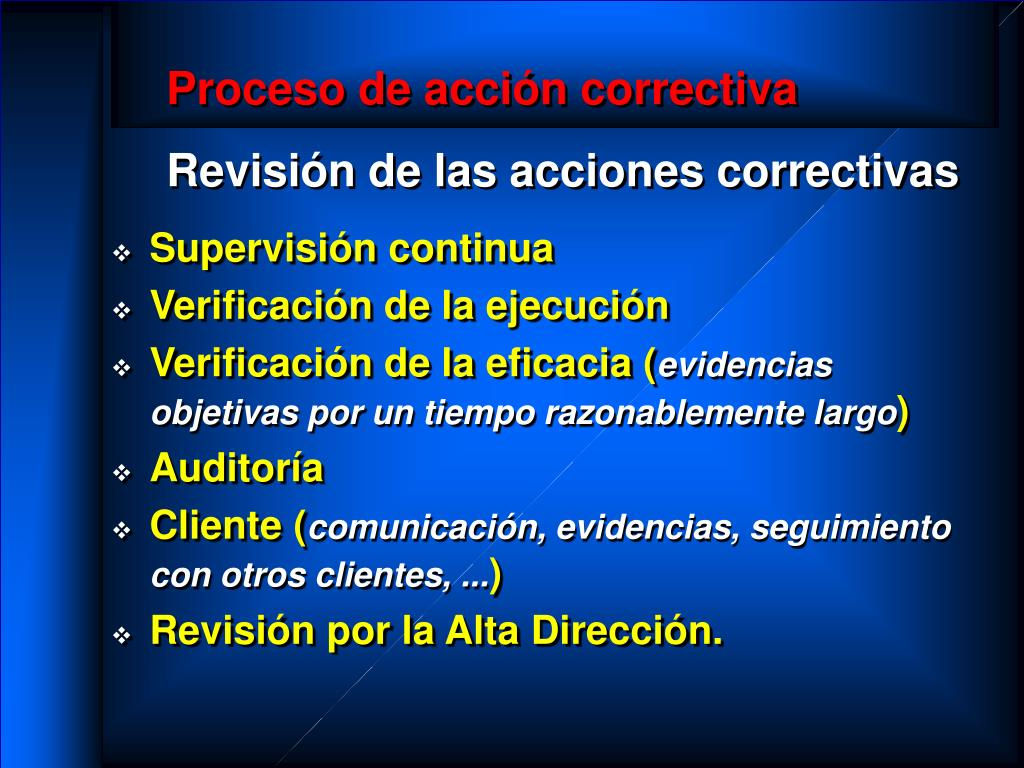 Proceso de acción correctiva