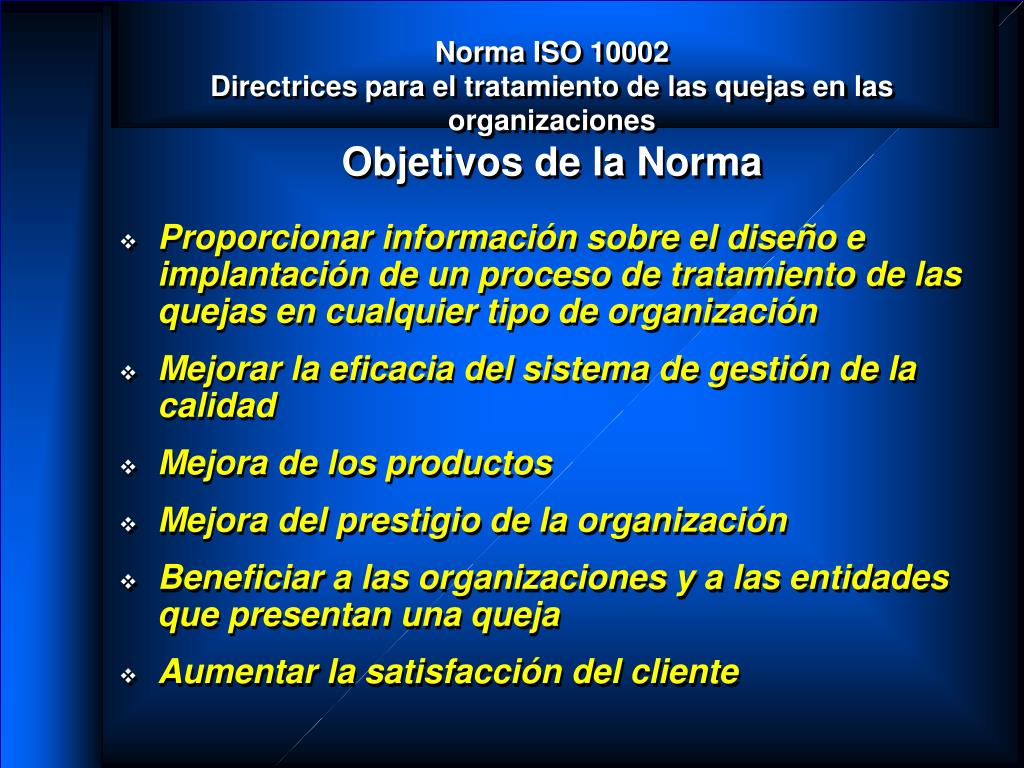 Norma ISO 10002