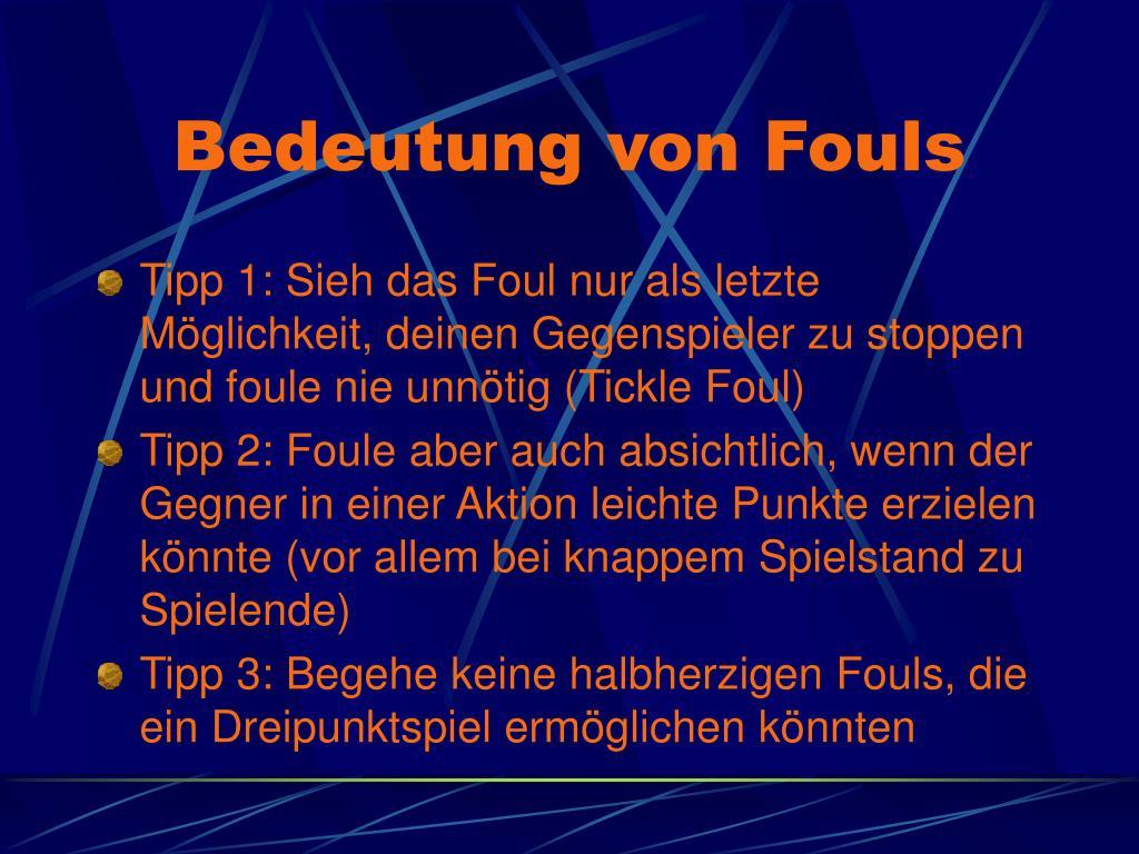 Bedeutung von Fouls
