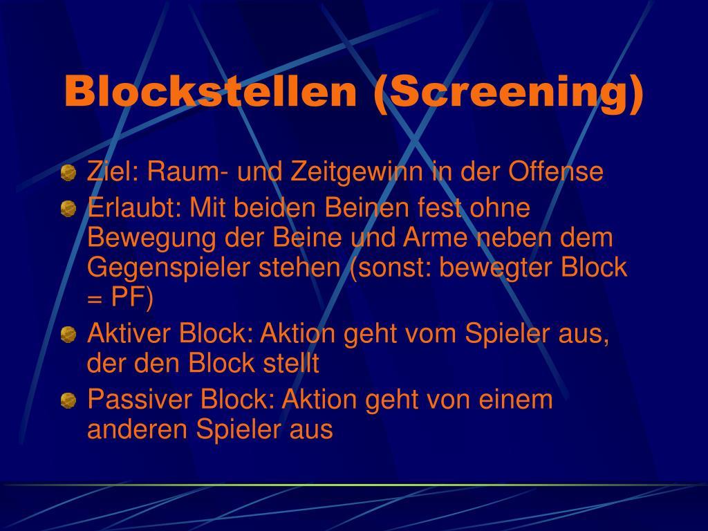 Blockstellen (Screening)