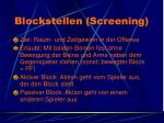 blockstellen screening
