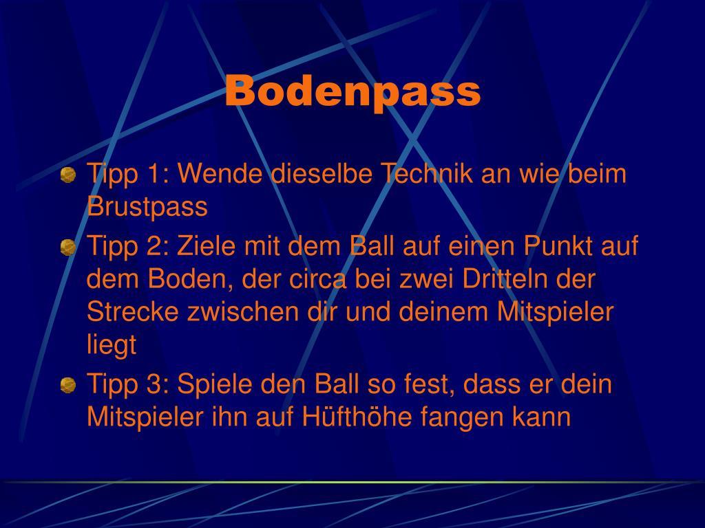 Bodenpass