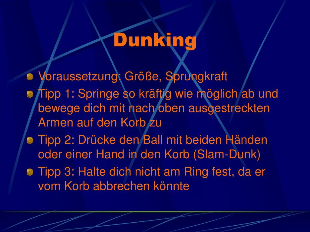 Dunking