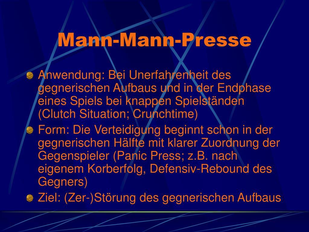 Mann-Mann-Presse