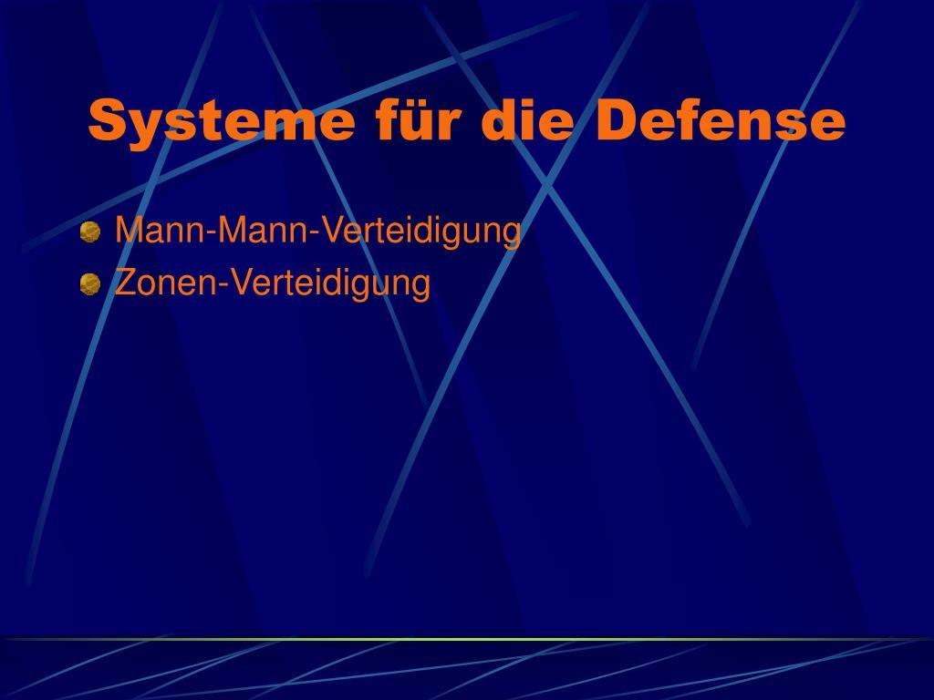 Systeme für die Defense