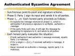 authenticated byzantine agreement