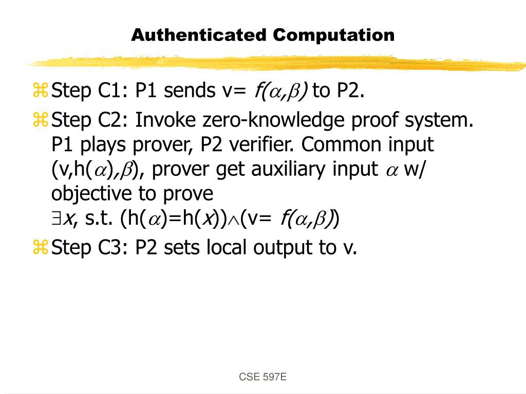 Authenticated Computation