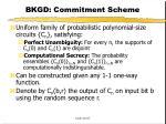 bkgd commitment scheme