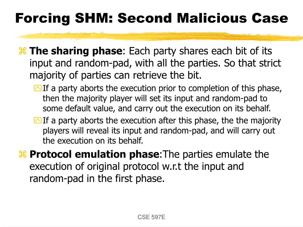 Forcing SHM: Second Malicious Case