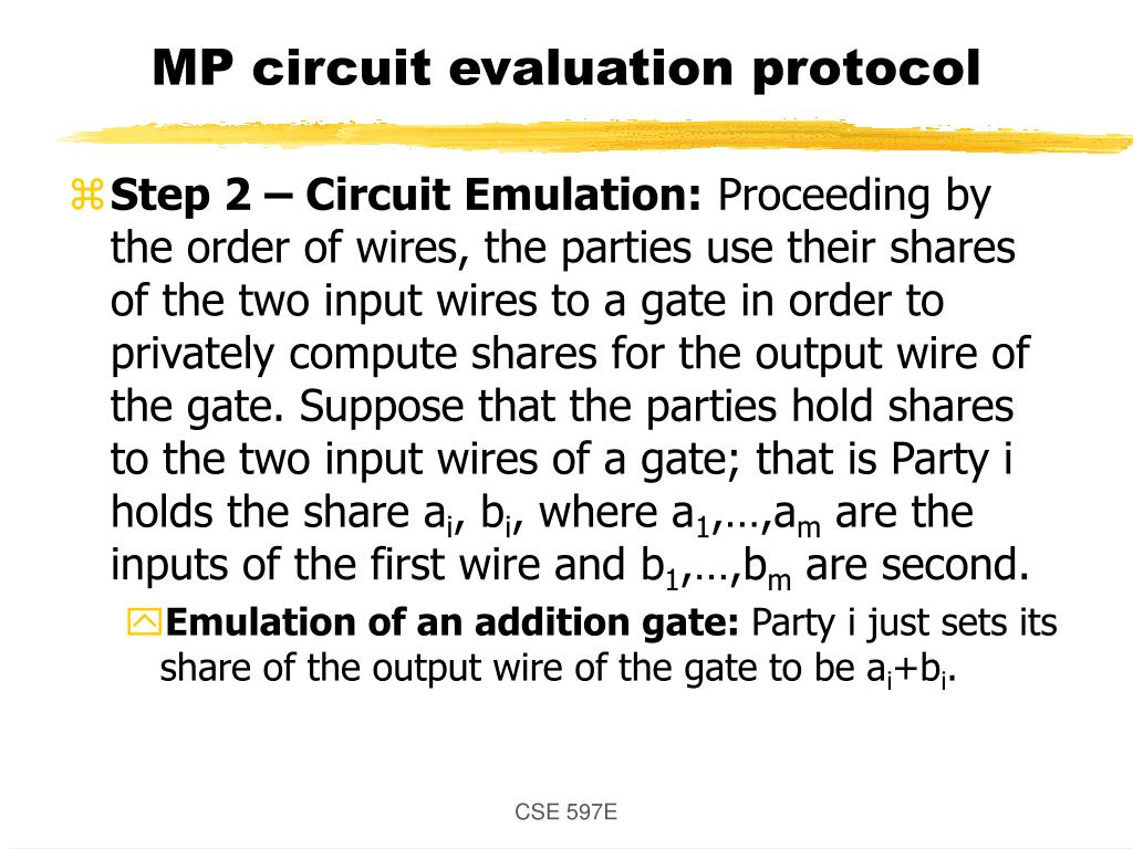 MP circuit evaluation protocol