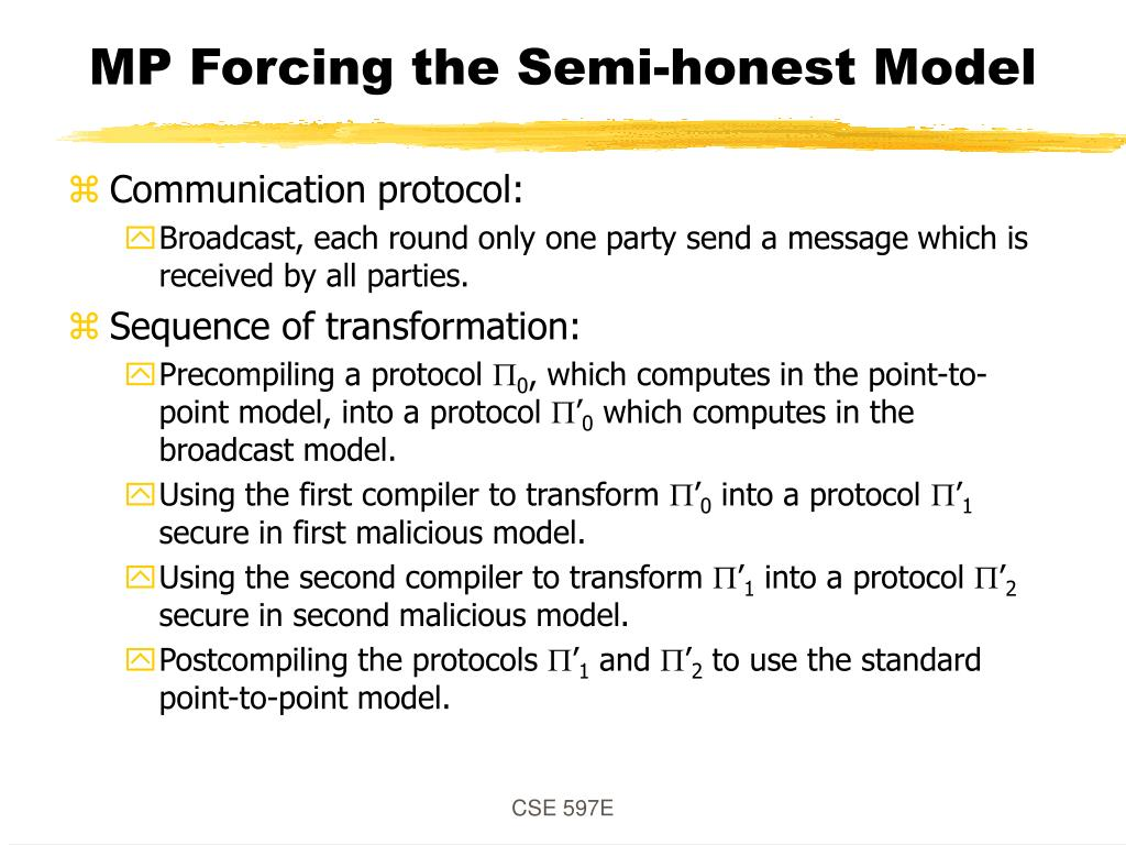 MP Forcing the Semi-honest Model