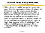 trusted third party presents