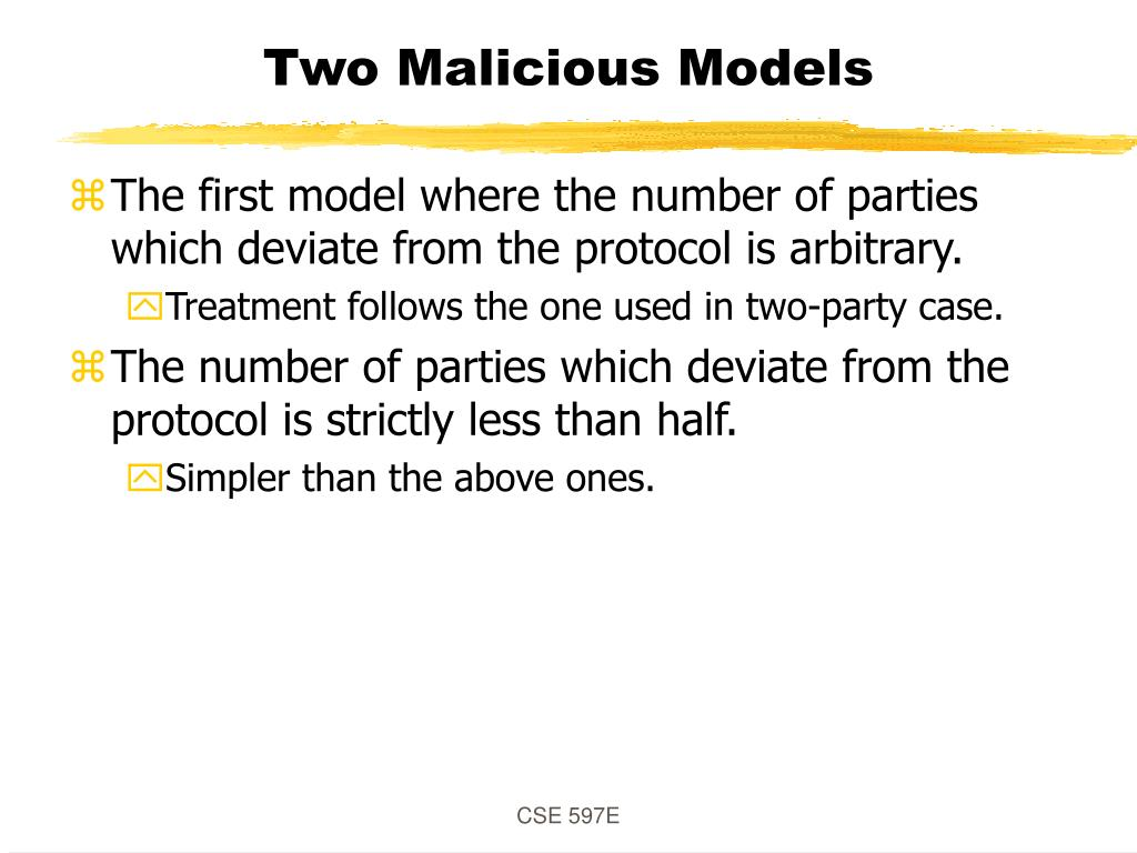 Two Malicious Models