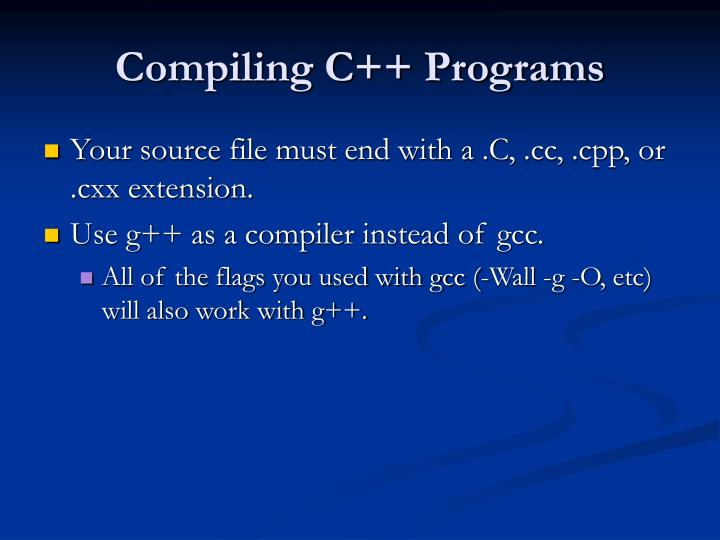 Compiling C++ Programs