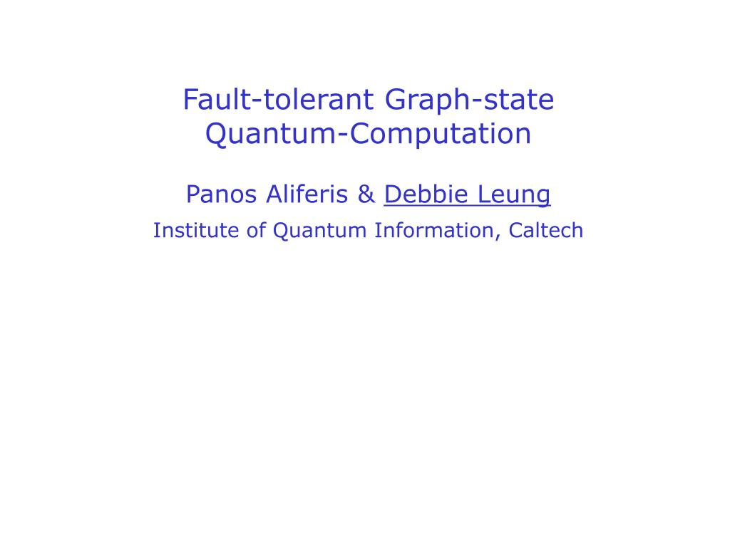 Fault-tolerant Graph-state