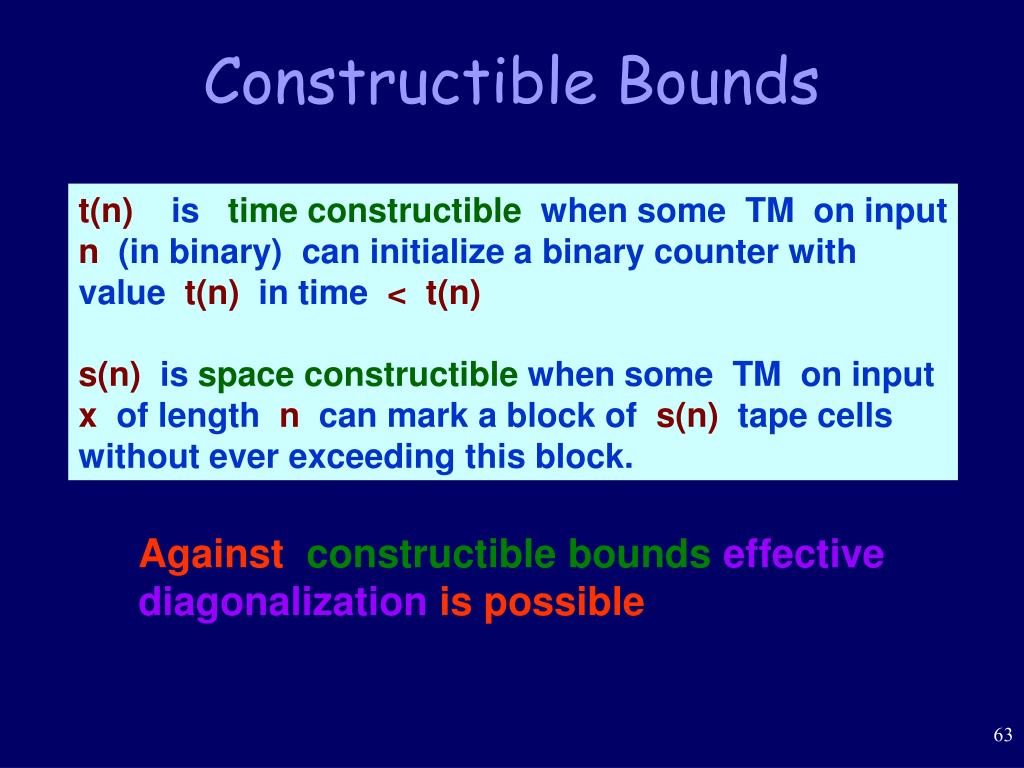 Constructible Bounds