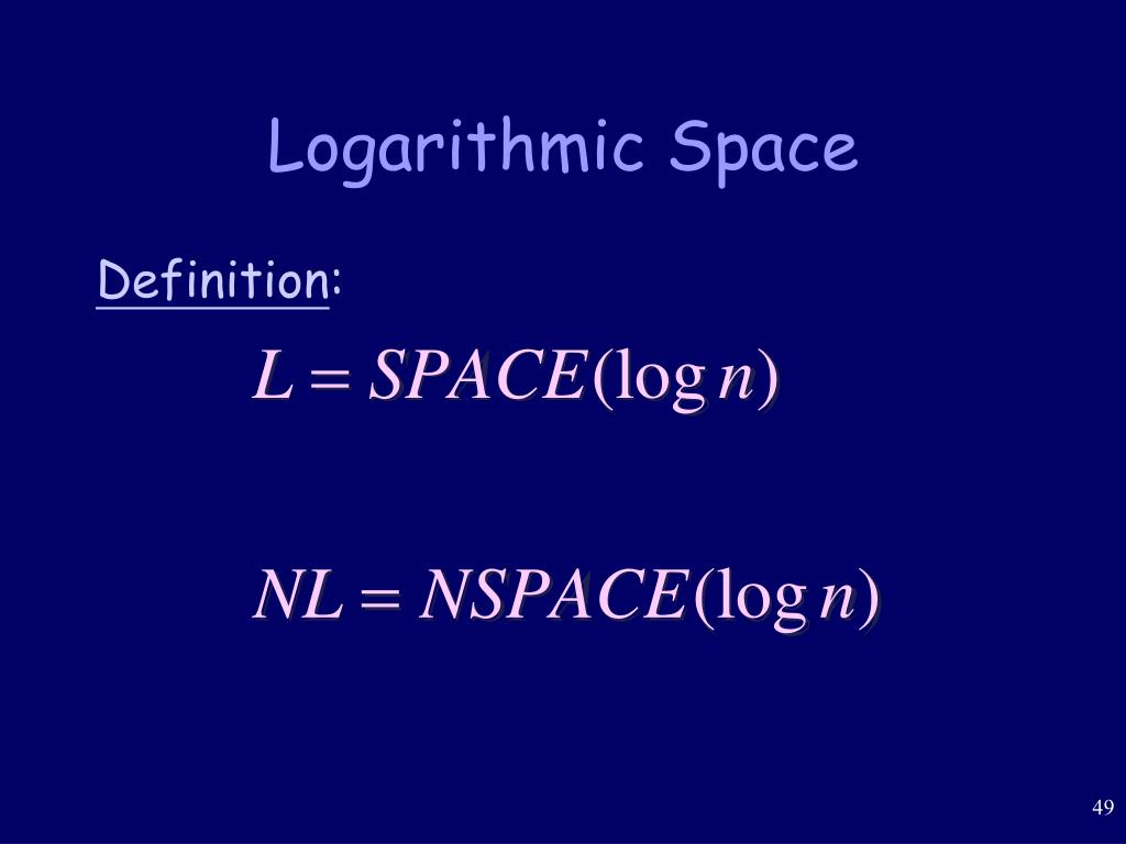 Logarithmic Space