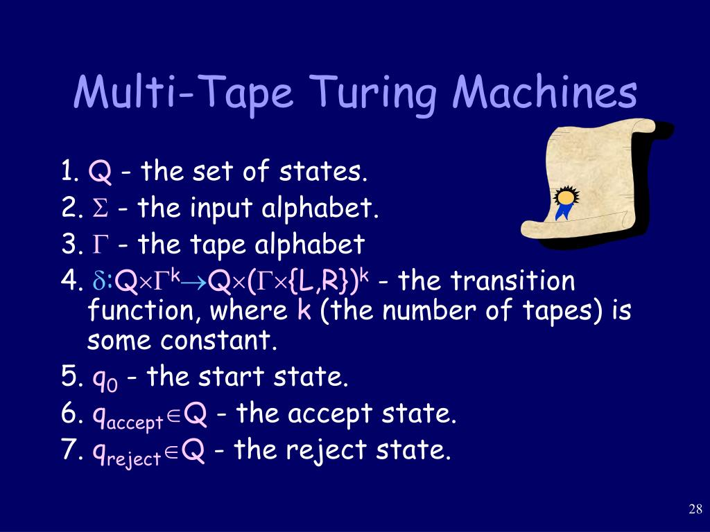 Multi-Tape Turing Machines