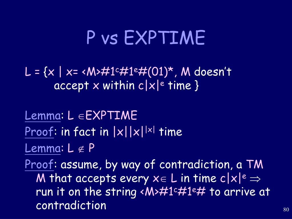 P vs EXPTIME