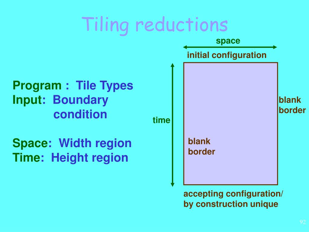 Tiling reductions