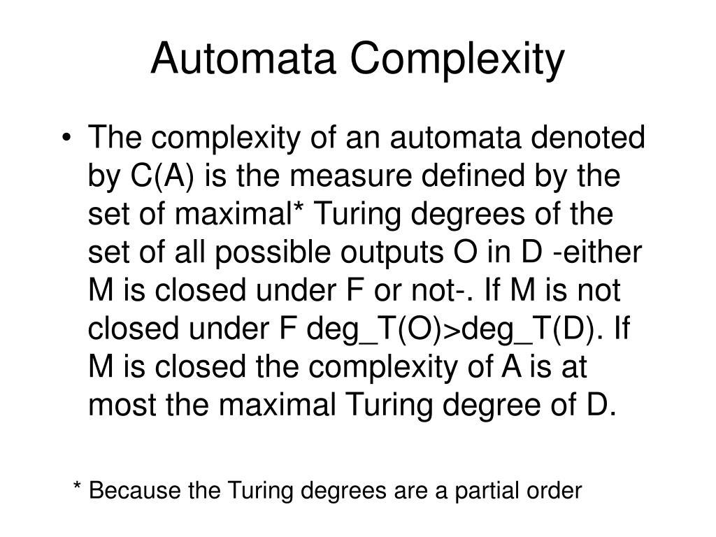 Automata Complexity