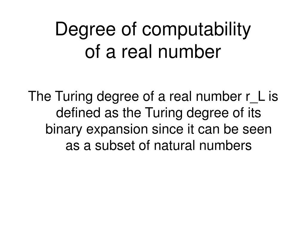 Degree of computability