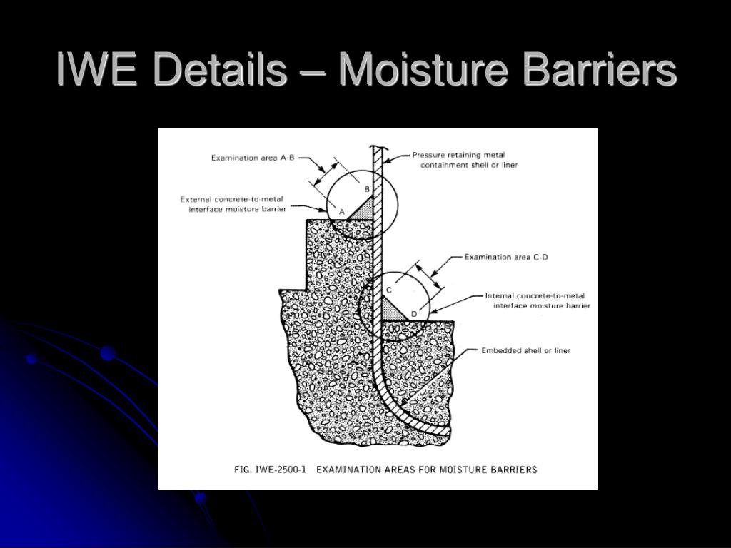 IWE Details – Moisture Barriers