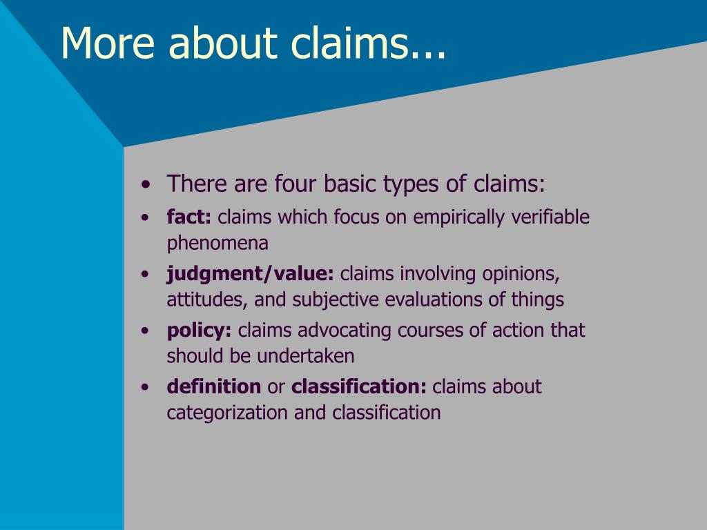 More about claims...