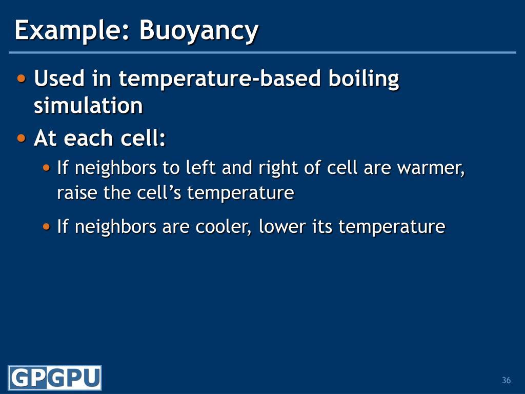 Example: Buoyancy