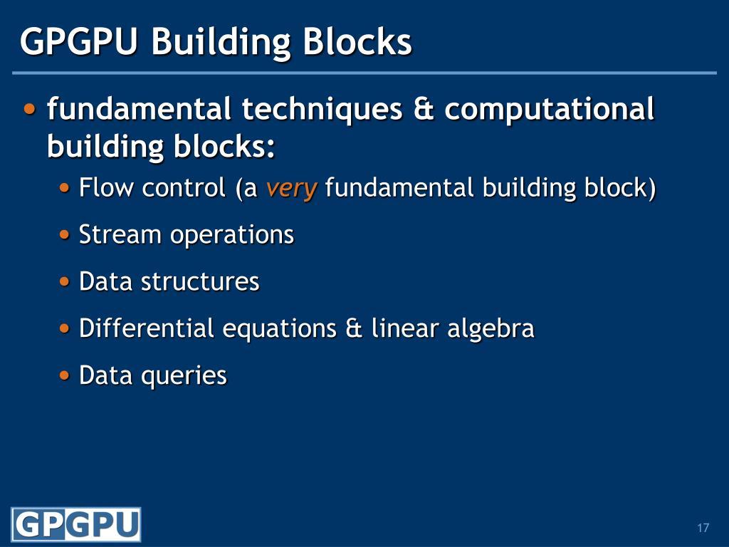 GPGPU Building Blocks