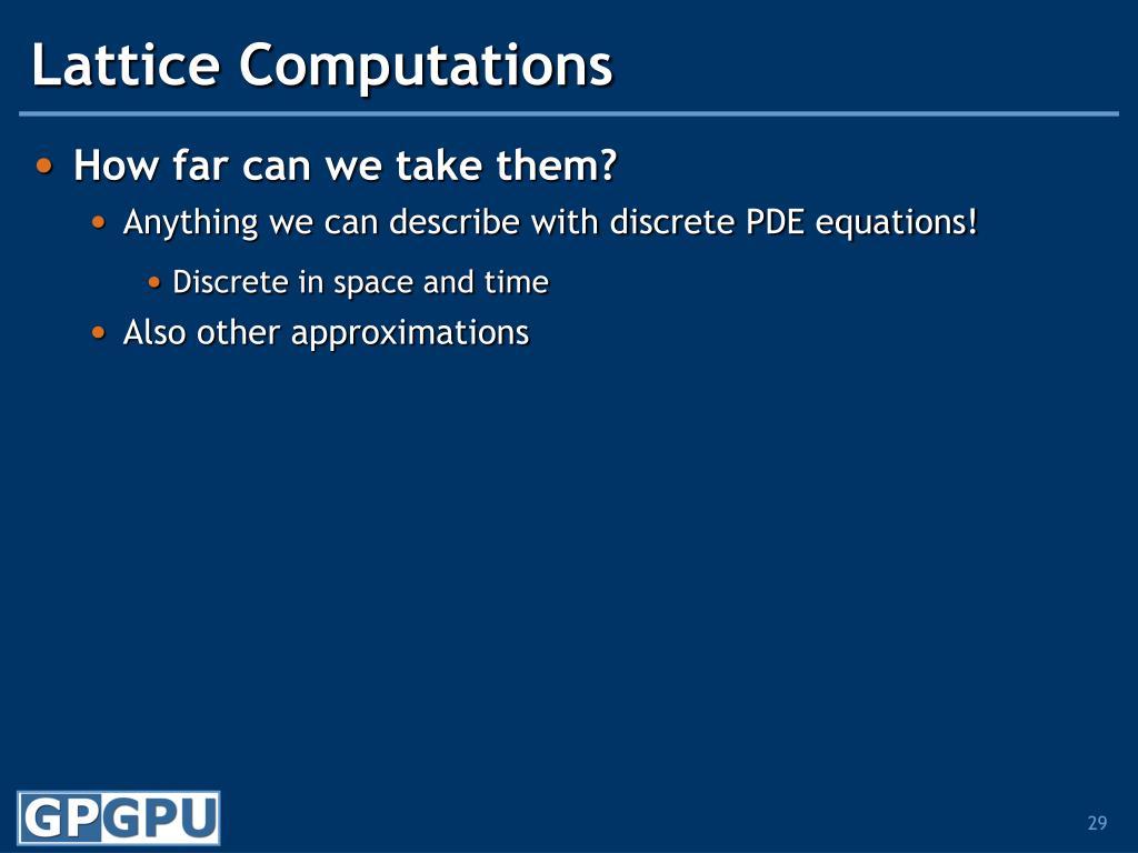 Lattice Computations